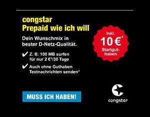 congstar Prepaid: Kostenlose SIM-Karte im Telekom Netz