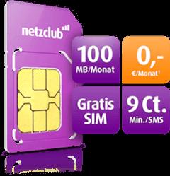Kostenlose netzclub Prepaid SIM-Karte