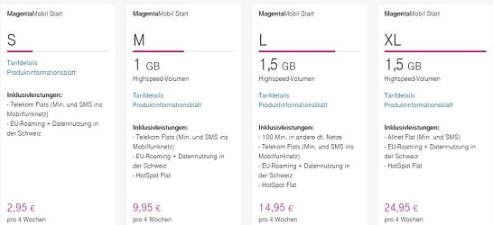 Telekom MagentaMobil Start Tarife