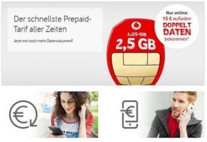 Vodafone CallYa Freikarte (SIM-Karte) aufladen - diese Möglichkeiten gibt es