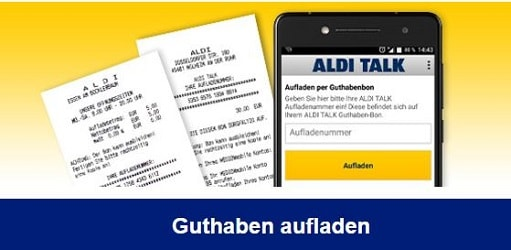 aldi karte aufladen Aldi Talk Guthaben aufladen / abfragen   so einfach geht's
